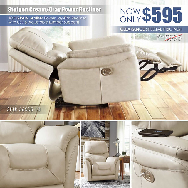 Stolpen Cream Power Recliner_ClearanceSpecial