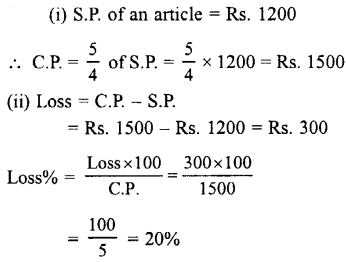 Selina Concise Mathematics class 7 ICSE Solutions - Profit, Loss and Discount-a10
