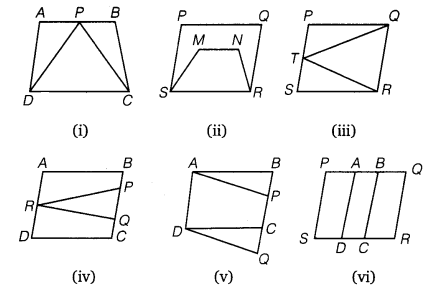 NCERT Solutions for Class 9 Maths Chapter 9 Area of parallelograms and Triangles
