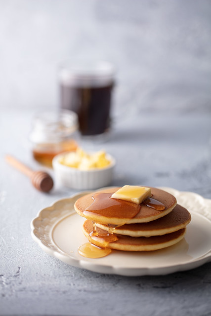 Starbucks_Pancakes with Pure Honey & Butter