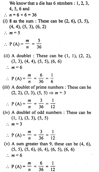 RD Sharma Class 10 Solutions Chapter 16 Probability Ex 16.1 50