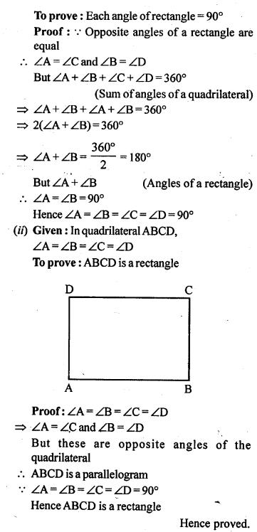 ML Aggarwal Class 9 Solutions for ICSE Maths Chapter 13 Rectilinear Figures  ex 9a