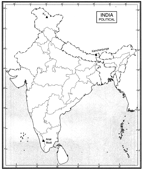 Extra Questions for Class 9 Social Science Geography Chapter 2 Physical Features of India 94 a
