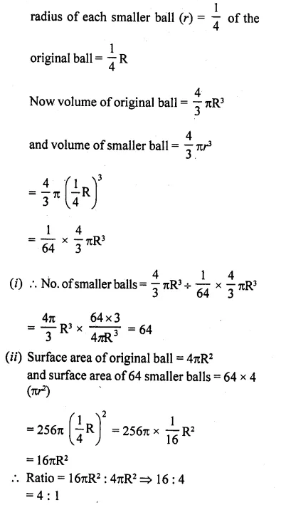RD Sharma Class 10 Solutions Chapter 14 Surface Areas and Volumes Ex 14.1 15