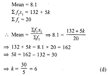 RD Sharma Class 10 Solutions Chapter 15 Statistics MCQS 21