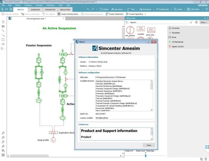Working with Siemens Simcenter Amesim 17.0 full license