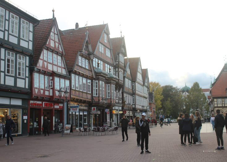 The old city center, Celle, Germany