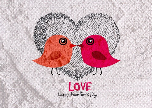Love birds for Wedding card