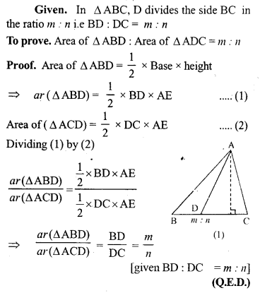 ML Aggarwal Class 9 Solutions for ICSE Maths Chapter 14 Theorems on Area     9a