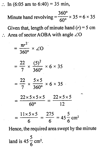 RD Sharma Class 10 Solutions Chapter 13 Areas Related to Circles Ex 13.2 - 19a