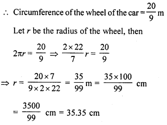 RD Sharma Class 10 Solutions Chapter 13 Areas Related to Circles Ex 13.1 18