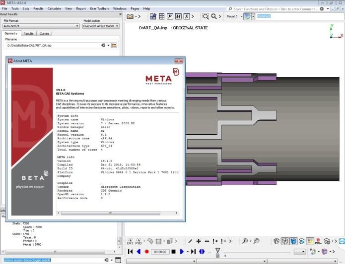 Working with BETA CAE Meta Post 19.1.0 full cracked