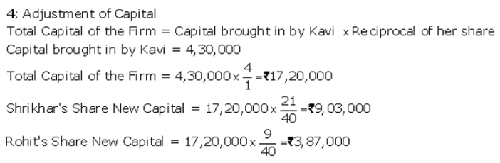 TS Grewal Accountancy Class 12 Solutions Chapter 4 Admission of a Partner Q83.5