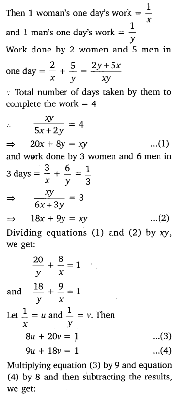 NCERT Solutions for Class 10 Maths Chapter 3 Pair of Linear Equations in Two Variables e6 2a