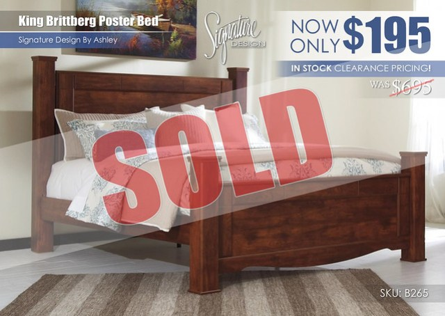 Brittberg King Bed Clearance_B265_Sold
