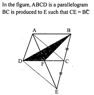 ML Aggarwal Class 9 Solutions for ICSE Maths Chapter 14 Theorems on Area    ct 6a