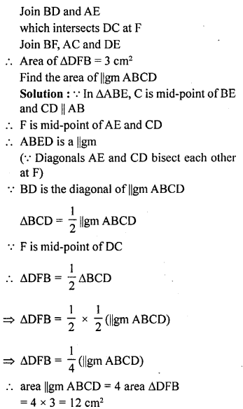 ML Aggarwal Class 9 Solutions for ICSE Maths Chapter 14 Theorems on Area    ct 6b