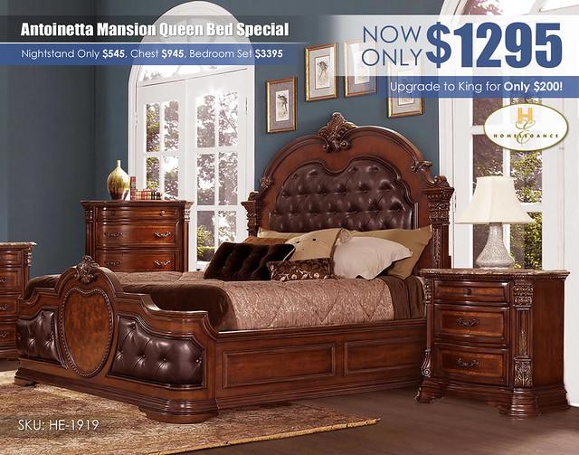 Antoinetta Mansion Queen Bed_HE-1919