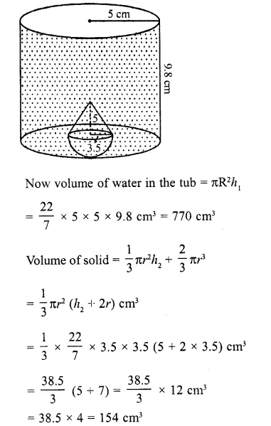 RD Sharma Class 10 Solutions Chapter 14 Surface Areas and Volumes Ex 14.2 7