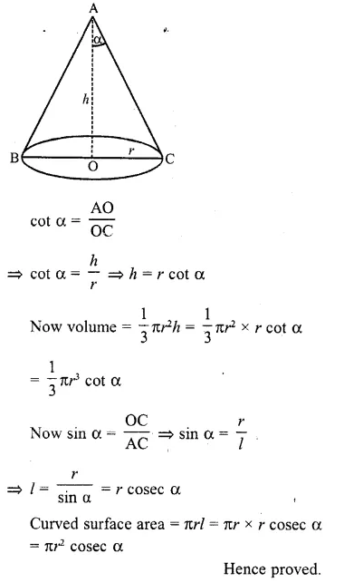 RD Sharma Class 10 Solutions Chapter 14 Surface Areas and Volumes  RV 39