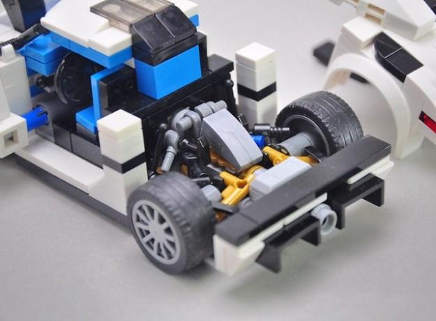 LEGO Sports Car rear engine