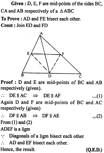 ML Aggarwal Class 9 Solutions for ICSE Maths Chapter 11 Mid Point Theorem    ct 3