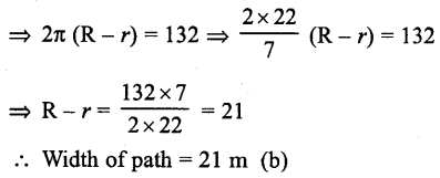 RD Sharma Class 10 Solutions Chapter 13 Areas Related to Circles MCQS -5