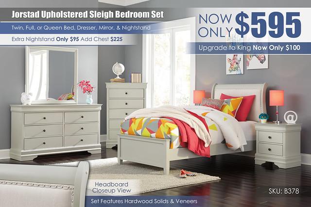 Jorstad Upholstered Youth Sleigh Bedroom Set_B378-31-36-81-96-92-Q388