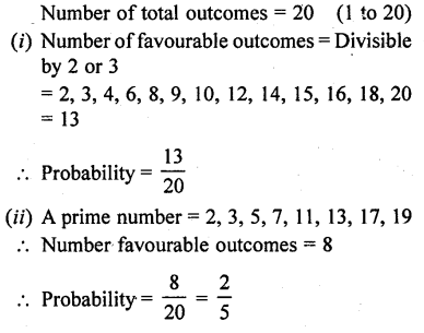 RD Sharma Class 10 Solutions Chapter 16 Probability Ex 16.1 49