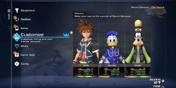 Kingdom Hearts 3 – Menus