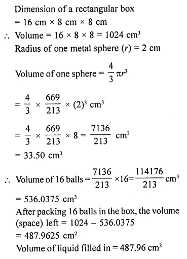 RD Sharma Class 10 Solutions Chapter 14 Surface Areas and Volumes Ex 14.1 44