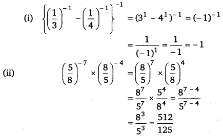 NCERT Solutions for Class 8 Maths Chapter 12 Exponents and