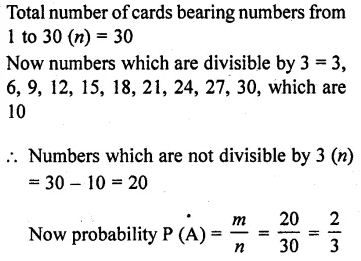 RD Sharma Class 10 Maths Chapter 13 Probability