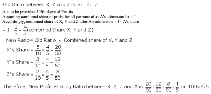 TS Grewal Accountancy Class 12 Solutions Chapter 4 Admission of a Partner Q1