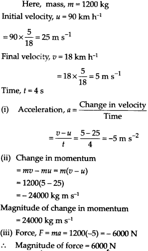 NCERT Solutions for Class 9 Science Chapter 9 Force and Laws of Motion 21