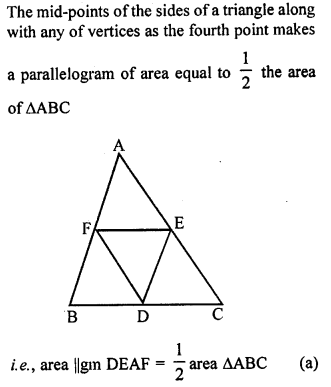 ML Aggarwal Class 9 Solutions for ICSE Maths Chapter 14 Theorems on Area    mcq  6