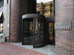 Entrance, W.R. Grace Building (1973), 10 E. Baltimore Street, Baltimore, MD 21224