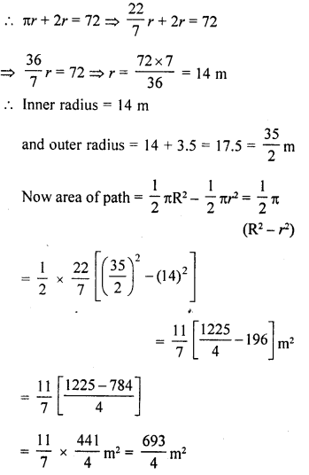 RD Sharma Class 10 Solutions Chapter 13 Areas Related to Circles Ex 13.1 27a