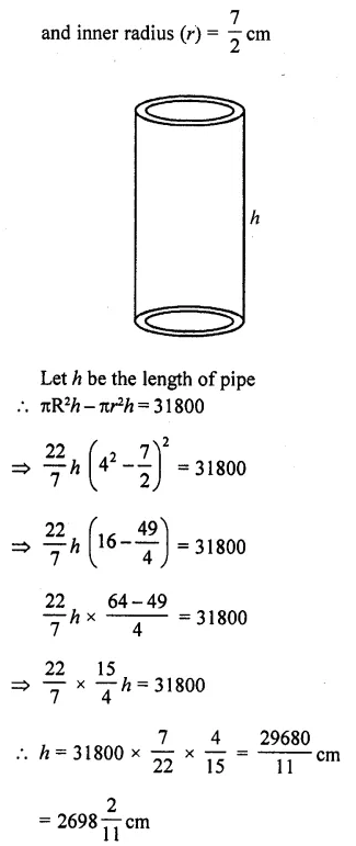 RD Sharma Class 10 Solutions Chapter 14 Surface Areas and Volumes Ex 14.1 23a