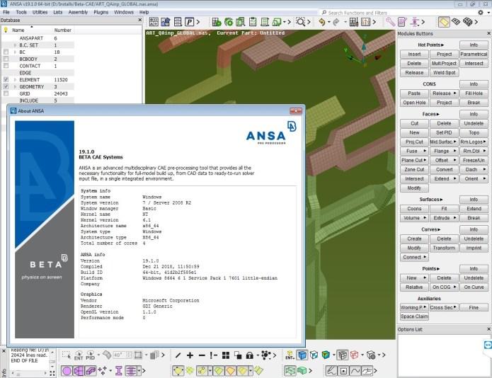 Working with BETA CAE ANSA 19.1.0 full license
