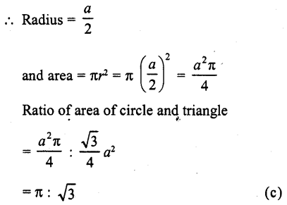 RD Sharma Class 10 Solutions Chapter 13 Areas Related to Circles MCQS -18