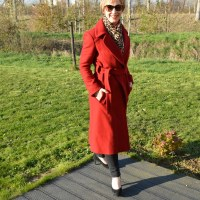 Fashion: Red coat