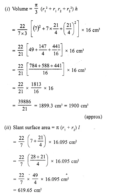 RD Sharma Class 10 Solutions Chapter 14 Surface Areas and Volumes Ex 14.3 4a