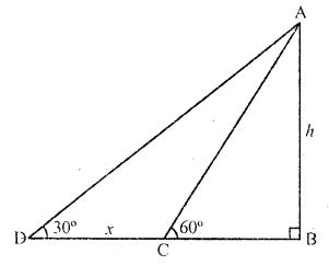 RD Sharma Class 10 Solutions Chapter 12 Heights and Distances MCQS - 16a
