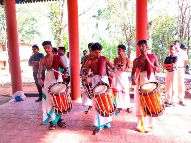 Baile tradicional en Kerala