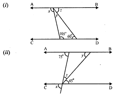 Middle School Mathematics Class 6 Solutions - Properties of Angles and Lines (Including Parallel Lines)-r1