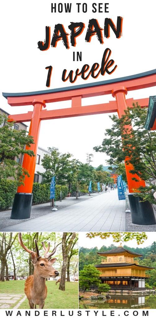 How To See Japan in 1 Week - Japan Itinerary, Kyoto and Tokyo Itinerary, Japan Travel, Japan Travel Tips | Wanderlustyle