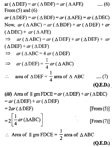 ML Aggarwal Class 9 Solutions for ICSE Maths Chapter 14 Theorems on Area     7a