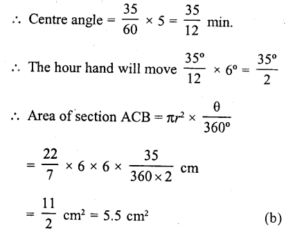 RD Sharma Class 10 Solutions Chapter 13 Areas Related to Circles MCQS -44a