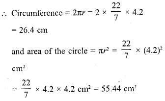 RD Sharma Class 10 Solutions Chapter 13 Areas Related to Circles Ex 13.1 1